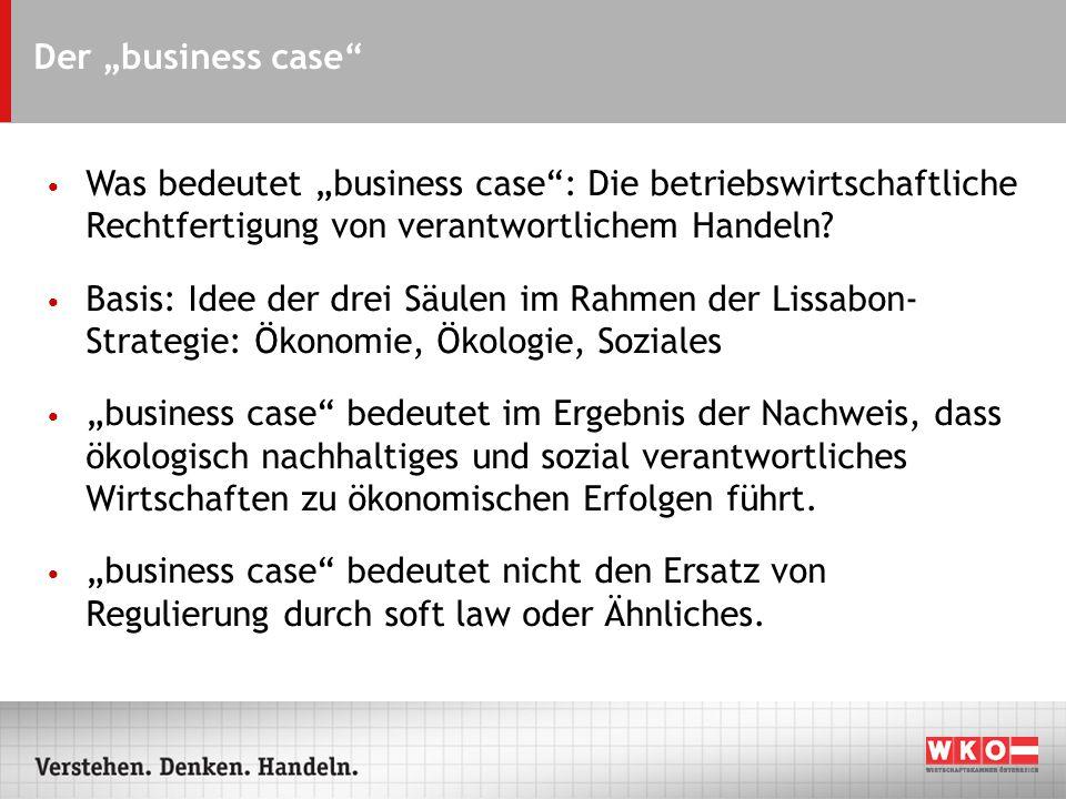 Der business case Was bedeutet business case: Die betriebswirtschaftliche Rechtfertigung von verantwortlichem Handeln.