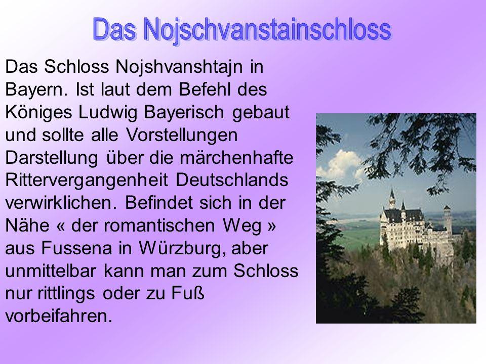 Das Schloss Nojshvanshtajn in Bayern. Ist laut dem Befehl des Königes Ludwig Bayerisch gebaut und sollte alle Vorstellungen Darstellung über die märch