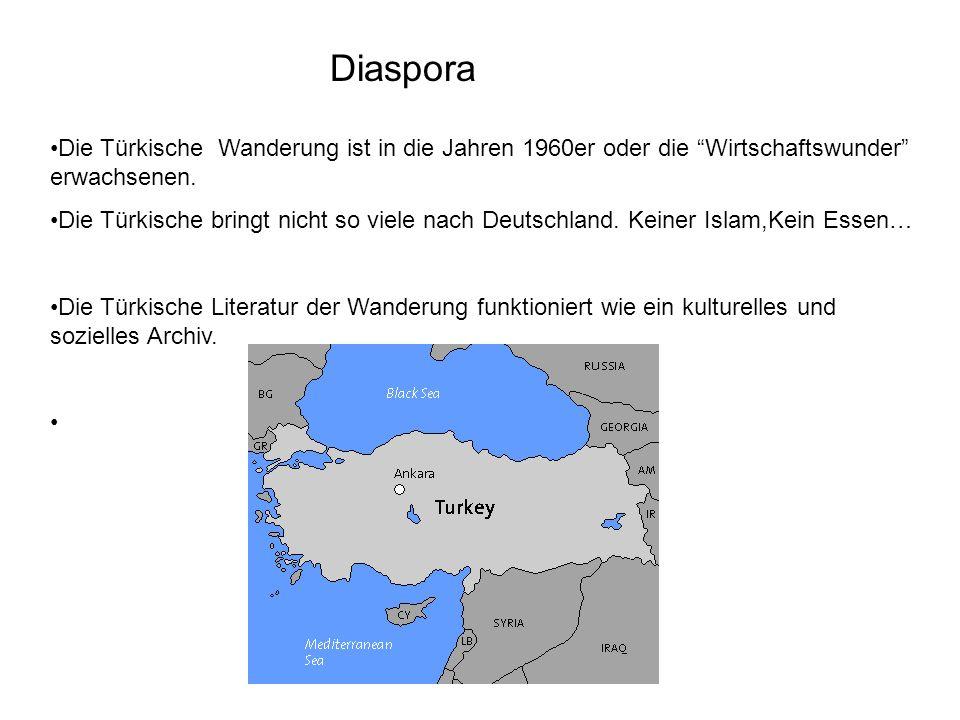 Diaspora Die Türkische Wanderung ist in die Jahren 1960er oder die Wirtschaftswunder erwachsenen. Die Türkische bringt nicht so viele nach Deutschland