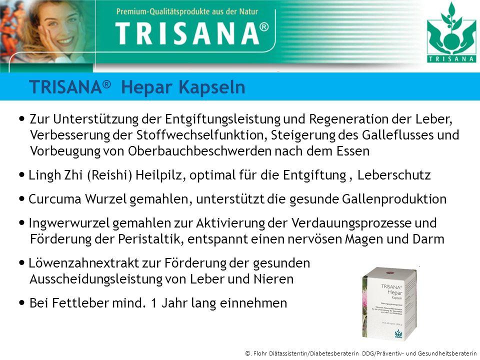 TRISANA ® Hepar Kapseln Zur Unterstützung der Entgiftungsleistung und Regeneration der Leber, Verbesserung der Stoffwechselfunktion, Steigerung des Ga