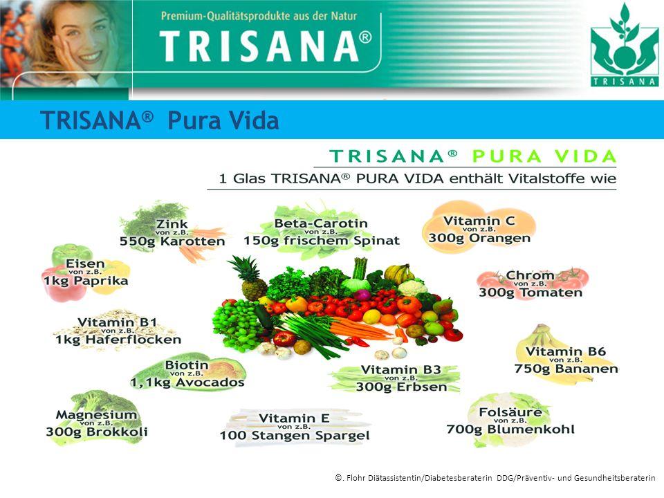 TRISANA ® Pura Vida ©. Flohr Diätassistentin/Diabetesberaterin DDG/Präventiv- und Gesundheitsberaterin
