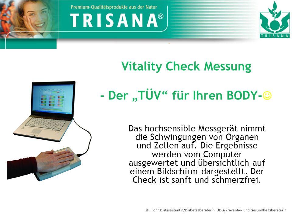 Vitality Check Messung - Der TÜV für Ihren Body- - Wasserhaushalt - Salzhaushalt - Sauerstoffversorgung - Säure- Basen Haushalt - Immunsystem - Schlafqualität - Umweltbelastung - Körperliche Fitness - Mikrozirkulation - Mikronährstoffbedarf ©.