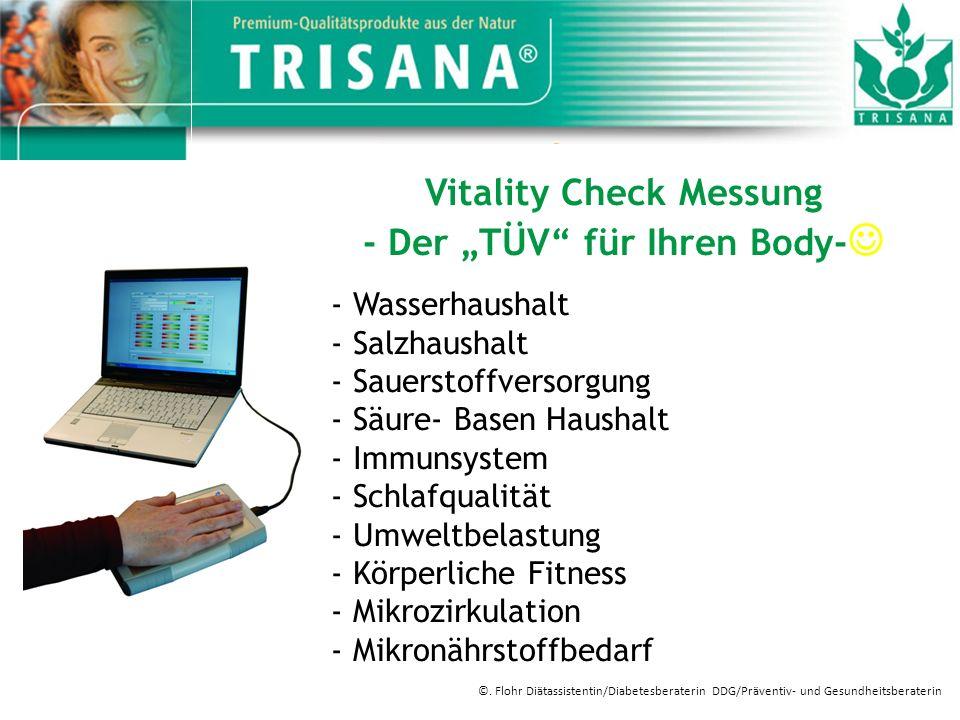 Vitality Check Messung - Der TÜV für Ihren Body- - Wasserhaushalt - Salzhaushalt - Sauerstoffversorgung - Säure- Basen Haushalt - Immunsystem - Schlaf