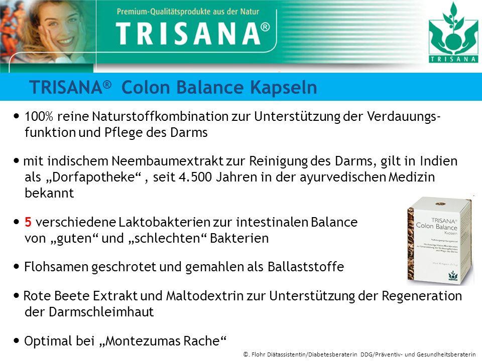 TRISANA ® Colon Balance Kapseln 100% reine Naturstoffkombination zur Unterstützung der Verdauungs- funktion und Pflege des Darms mit indischem Neembau