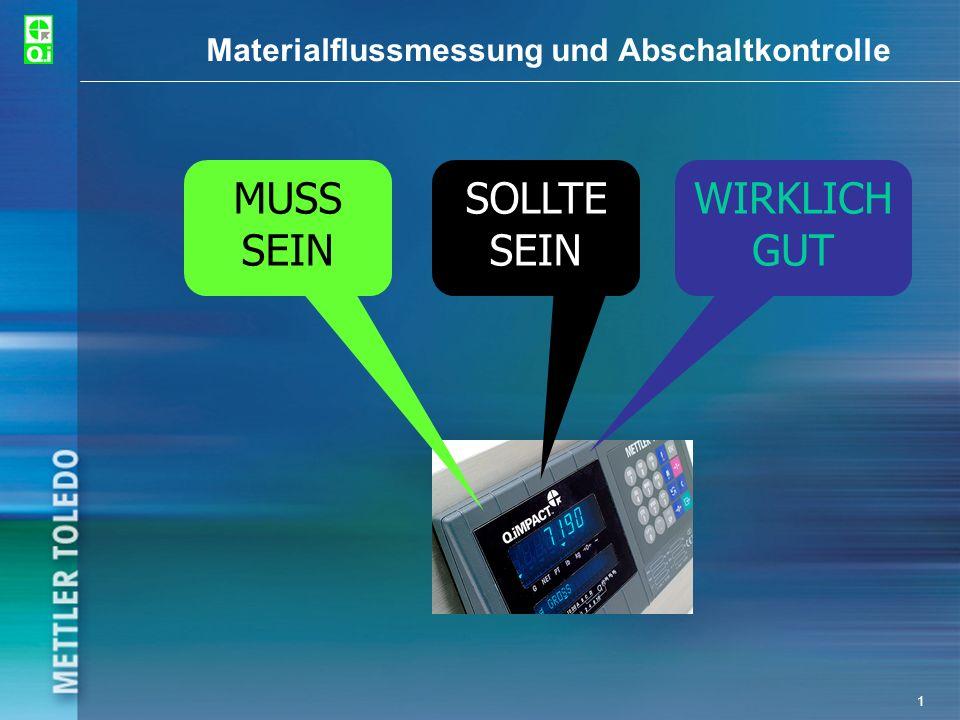 1 Materialflussmessung und Abschaltkontrolle MUSS SEIN SOLLTE SEIN WIRKLICH GUT