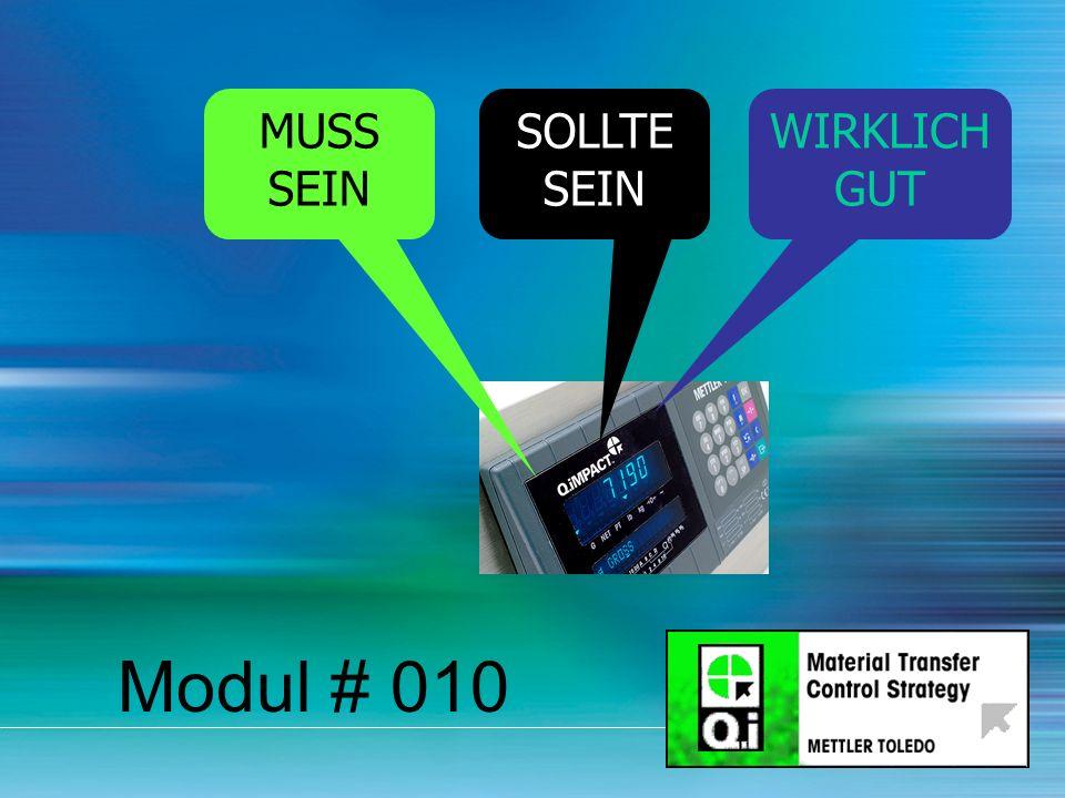 16 Modul # 010 MUSS SEIN SOLLTE SEIN WIRKLICH GUT