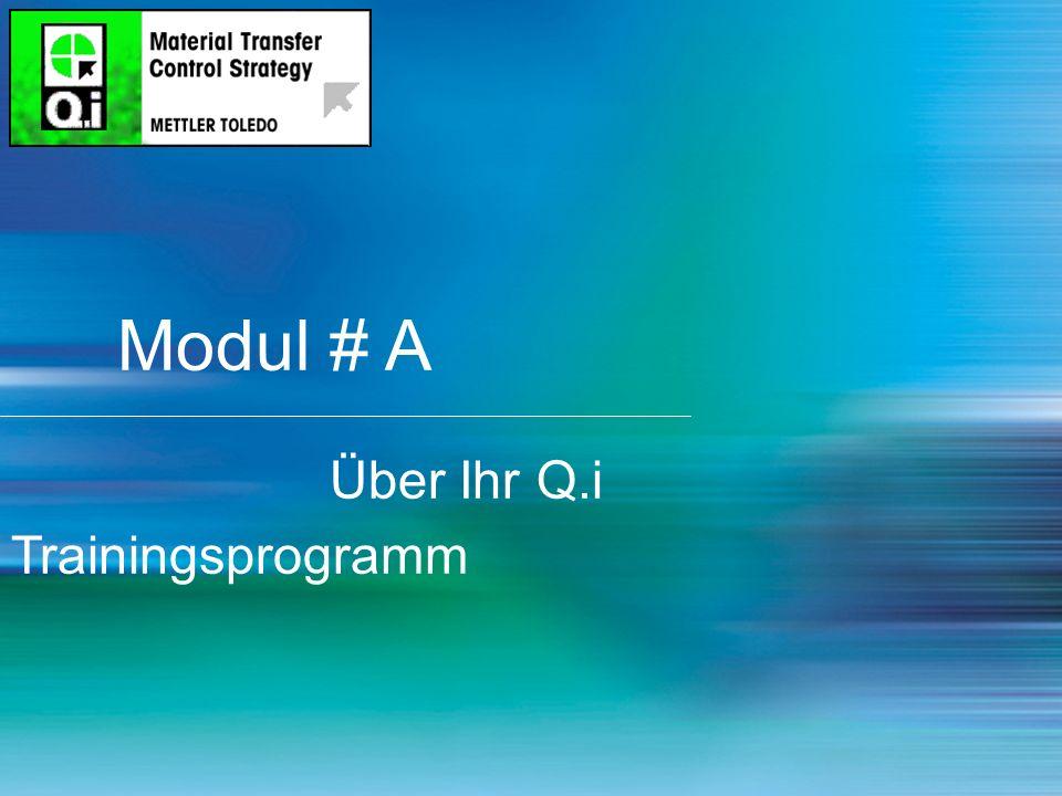 2 Modul # A Über Ihr Q.i Trainingsprogramm