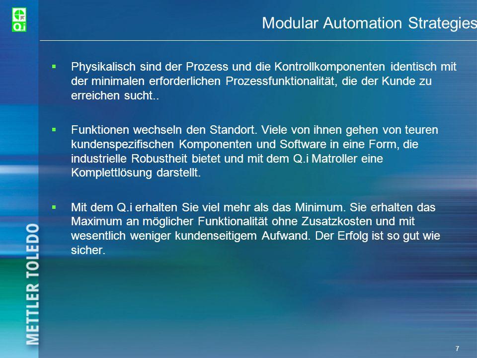 28 Qi Parameters PAC = Predictive Adaptive Control Die PAC Algorithmen sind das Herz von Qis Leistungsfähigkeit und Genauigkeit PAC hat 3 Leistungsstufen Spill Only- elementare Kontrollalgorithmen K1- Erweiterte Kontrollalgorithmen K2- Hochentwickelte Kontrollalgorithmen Damit der Qi Matroller funktioniert, müssen 2 Datenbanken konfiguriert werden.
