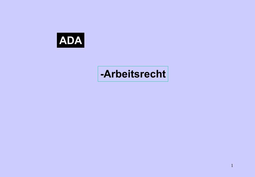 1 ADA -Arbeitsrecht