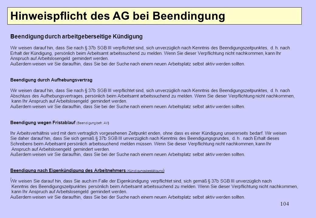 103 PW Günther Korn - Tod des Arbeitnehmers - Kündigung AG/AN - Ende einer Befristung - Rente des AN? - Änderungskündigung - Anfechtung Beendigung ein