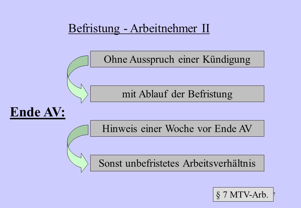 186 Besondere Ausnahmefälle: Befristung bis max. 8 Monate mit Zustimmung des BR - Auszubildende Befristung: zur Zeit 12 Monate (123 Ziff.1 SGB III) Be