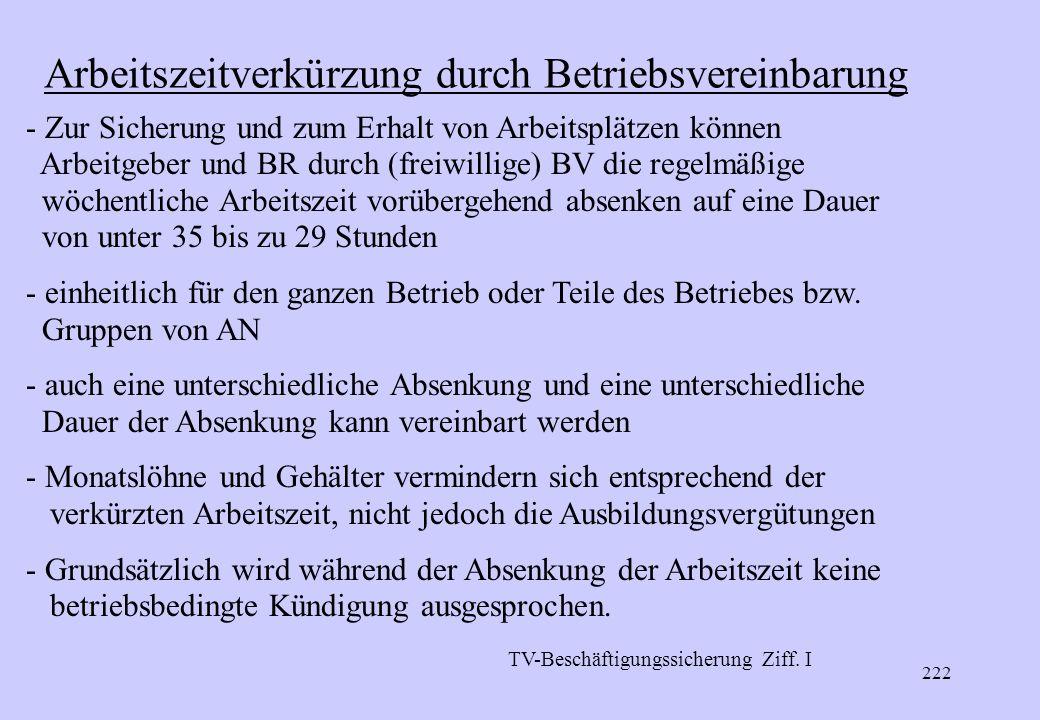 221 Gleitende Arbeitszeit - Betriebsvereinbarung über eine gleitende Arbeitszeit (unter Hinzuziehung der Tarifvertragsparteien – bei MTV-Arb.) - Gleit