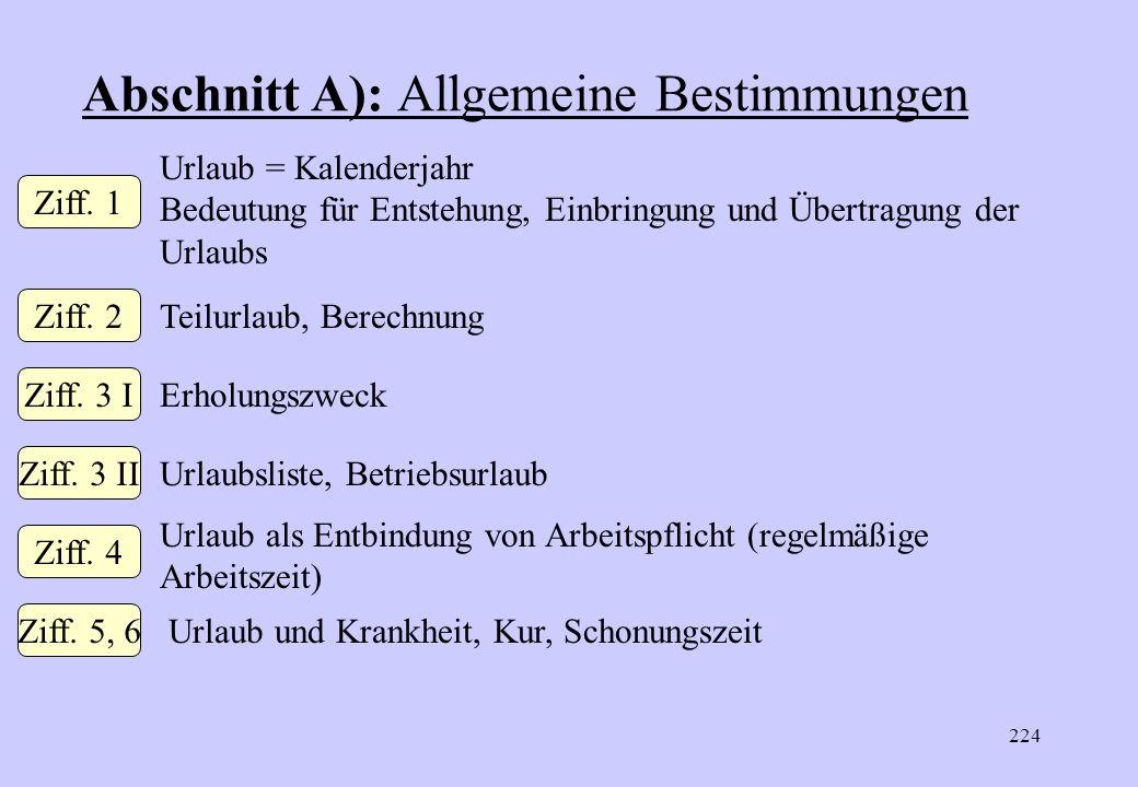 223 Gliederung der Urlaubsnorm A. Allgemeine Bestimmungen B. UrlaubsdauerC. Urlaubsentgelt § 25 MTV-Arb., § 14 MTV-Ang.