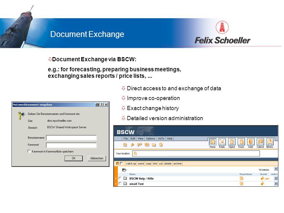 Vorteile für LamiGraf...was bringt das Portal Ihnen... ò Document Exchange via BSCW: e.g.: for forecasting, preparing business meetings, exchanging sa
