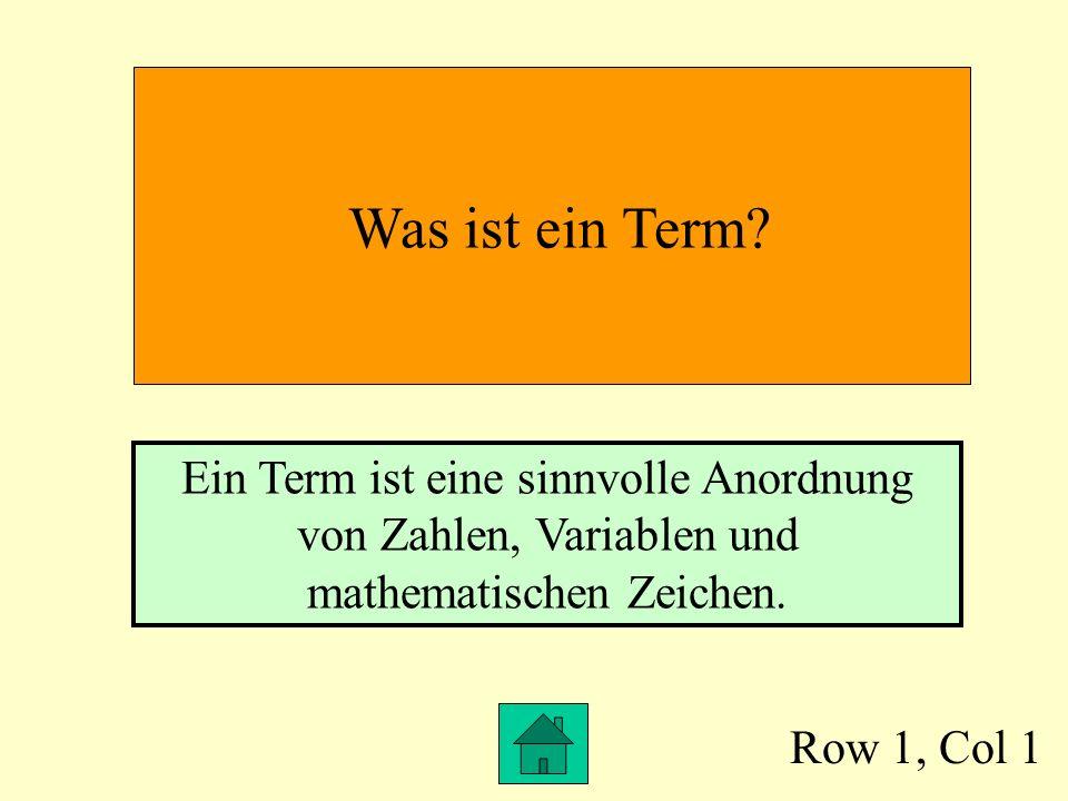 Row 1, Col 1 Was ist ein Term.