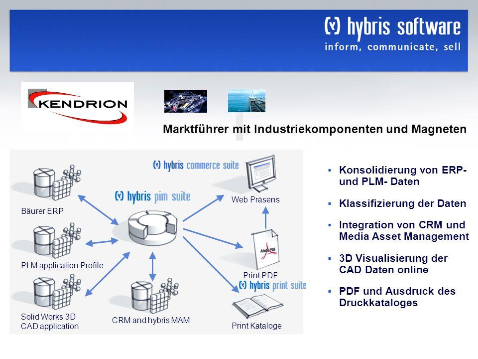 hybris Company Confidential hybris GmbH, 10 Konsolidierung von ERP- und PLM- Daten Klassifizierung der Daten Integration von CRM und Media Asset Manag
