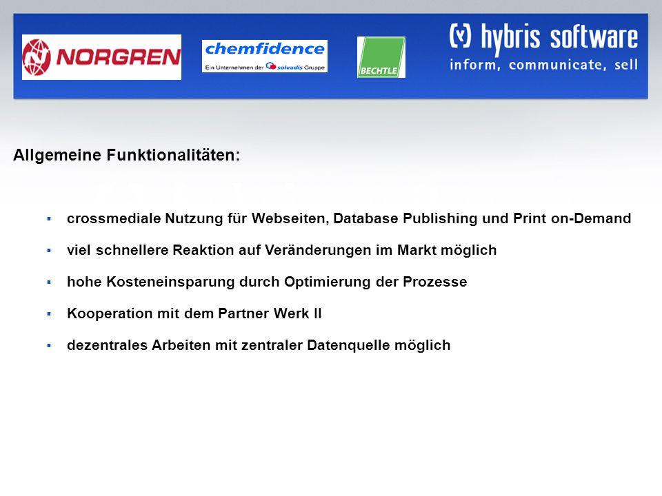 hybris Company Confidential hybris GmbH, 25 Allgemeine Funktionalitäten: crossmediale Nutzung für Webseiten, Database Publishing und Print on-Demand v