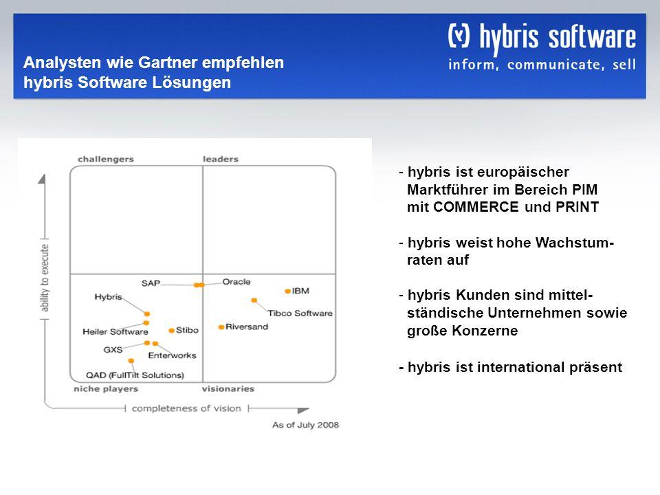 hybris Company Confidential hybris GmbH, 5 - hybris ist europäischer Marktführer im Bereich PIM mit COMMERCE und PRINT - hybris weist hohe Wachstum- r