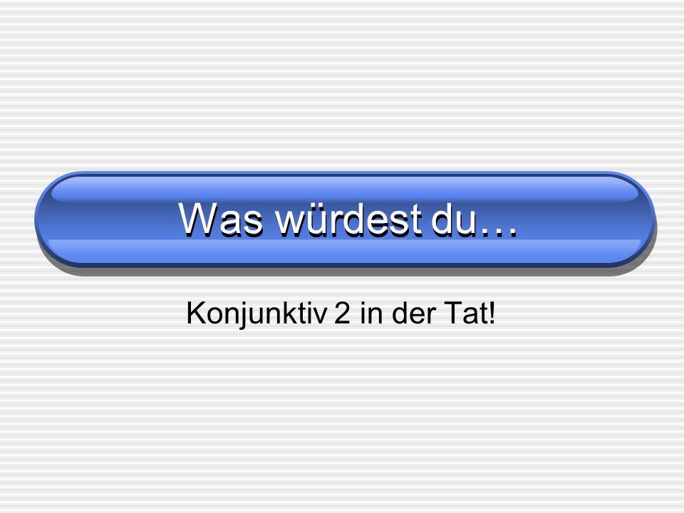 Quindi, per esempio Fahren : ich fuhr -> ich führe Essen: ich ass -> ich ässe Geben: du gabst -> du gäbest E così via: per tutti le forme del K2 Dei verbi forti, quando esse NON coincidono Con quelle del Präteritum, userai la forma breve.