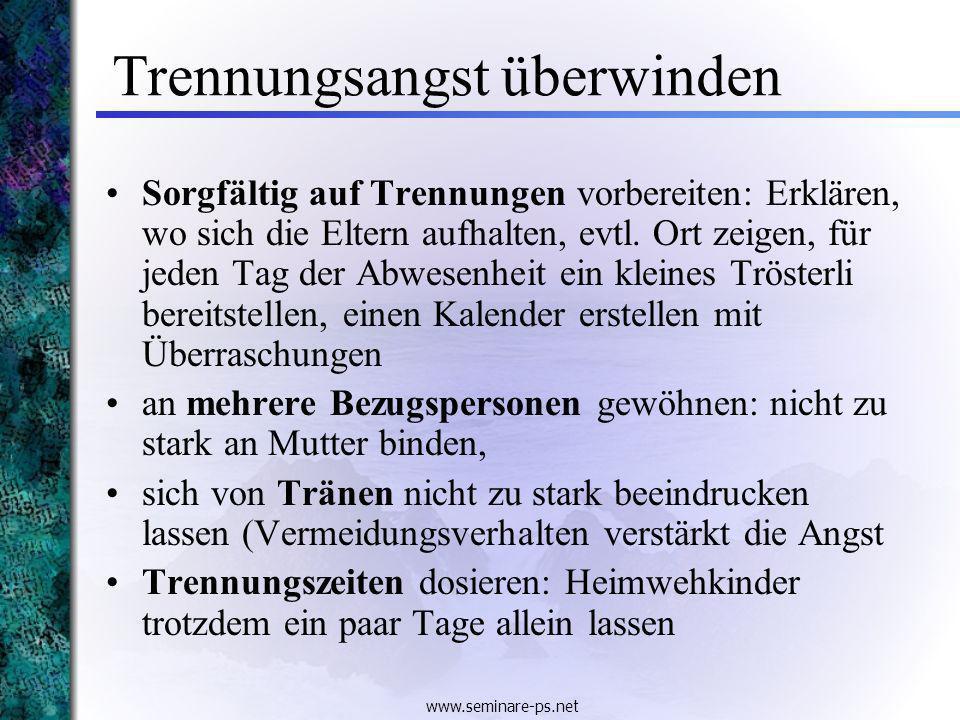 www.seminare-ps.net Erziehungsregeln: Konsequenz 1.