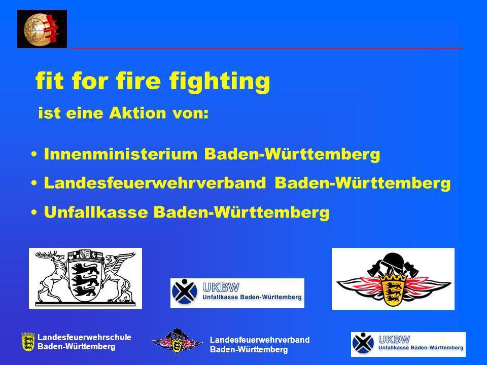 Landesfeuerwehrschule Baden-Württemberg Landesfeuerwehrverband Baden-Württemberg 13 Organisation und Sponsoren Projektgruppe ffff: Landesfeuerwehrverband Willi Dongus Unfallkasse Baden-Württemberg Dr.