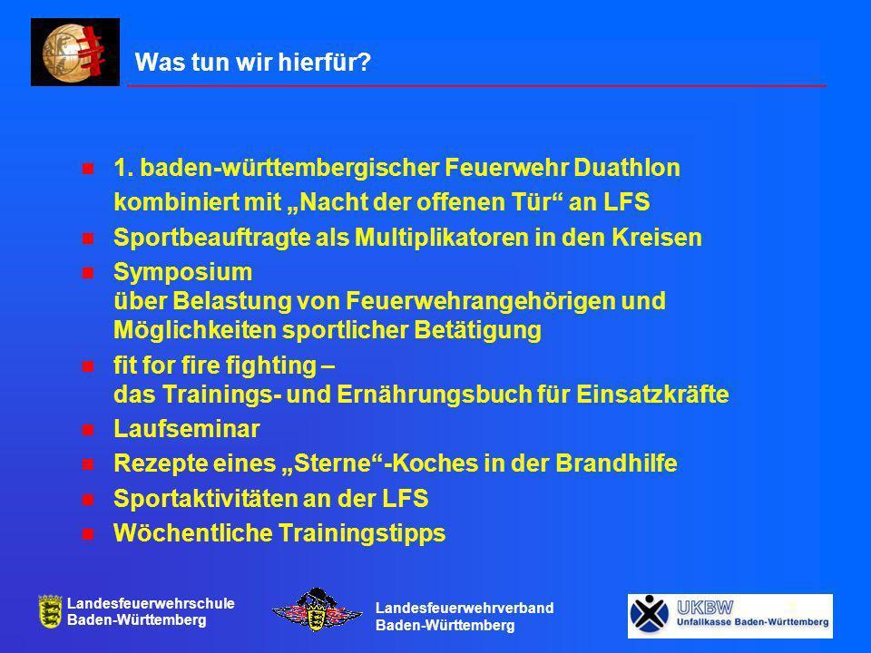 Landesfeuerwehrschule Baden-Württemberg Landesfeuerwehrverband Baden-Württemberg 8
