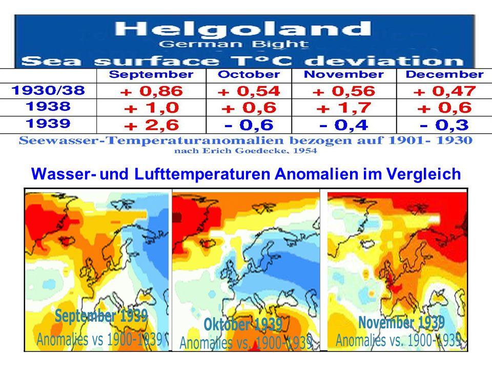 9 Wasser- und Lufttemperaturen Anomalien im Vergleich