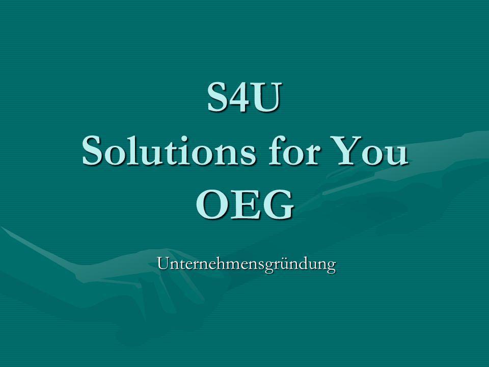 S4U Solutions for You OEG Unternehmensgründung