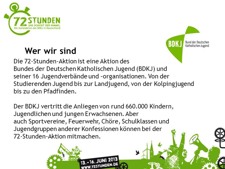 Überschrift Passender Untertitel zur Präsentation Wer wir sind Die 72-Stunden-Aktion ist eine Aktion des Bundes der Deutschen Katholischen Jugend (BDK