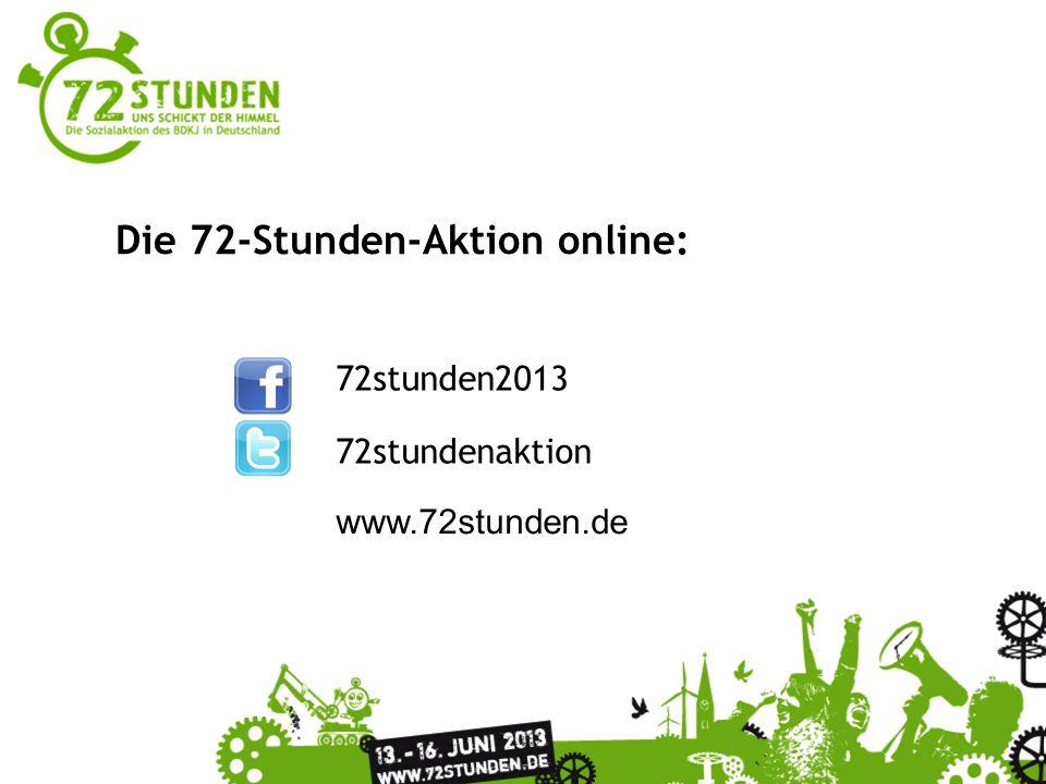 72stunden2013 72stundenaktion www.72stunden.de Die 72-Stunden-Aktion online: