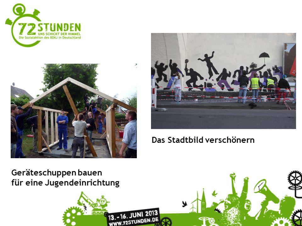 Überschrift Passender Untertitel zur Präsentation Geräteschuppen bauen für eine Jugendeinrichtung Das Stadtbild verschönern