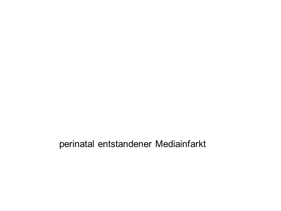 Cerebralparesen (CP) Ursachen dyskinetische CP –überwiegend peri- / neonatal; übertragene Neugeborene hypoxisch- ischämisch (Status marmoratus) Kernikterus ataktische CP –sehr heterogen –Bildgebung in > 50% unauffällig –30 - 40 % Kleinhirnhypoplasie - mit der klinischen Schwere nicht korrelierend –selten läsionell –genetische / familiäre Formen in 25% Krägeloh-Mann I, Klassifikation, Epidemiologie, Pathogenese und Klinik.