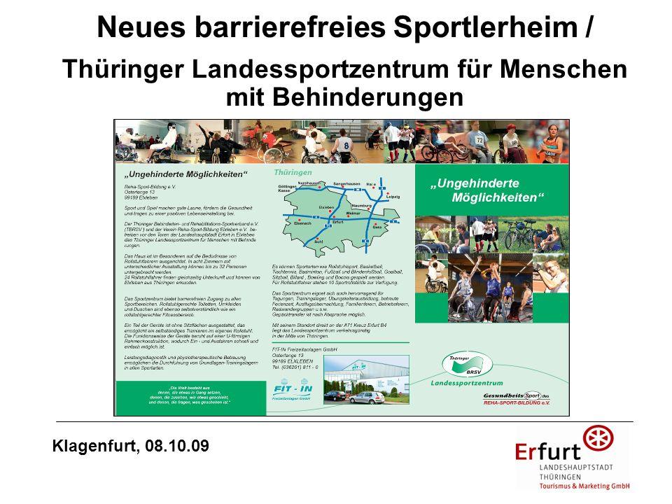 Neues barrierefreies Sportlerheim / Thüringer Landessportzentrum für Menschen mit Behinderungen