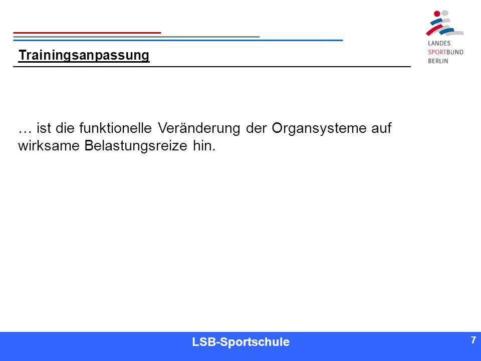 18 Referent LSB-Sportschule 18 Gruppenarbeit Themen: Ausdauer Kraft Schnelligkeit Beweglichkeit In Theorie und Praxis!