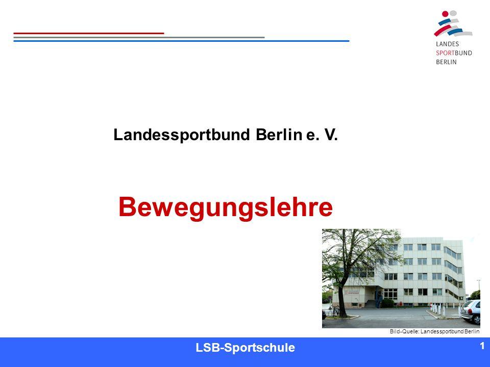 1 1 Referent LSB-Sportschule 1 Landessportbund Berlin e. V. Bewegungslehre Bild-Quelle: Landessportbund Berlin