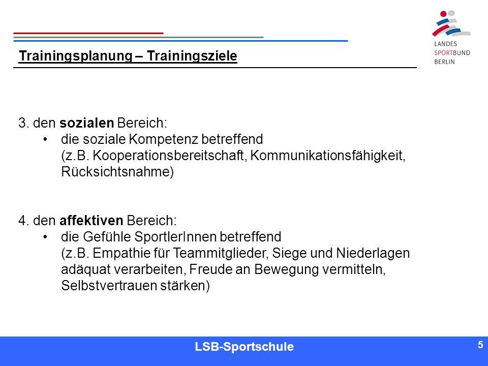 5 5 Referent LSB-Sportschule 5 3. den sozialen Bereich: die soziale Kompetenz betreffend (z.B. Kooperationsbereitschaft, Kommunikationsfähigkeit, Rück