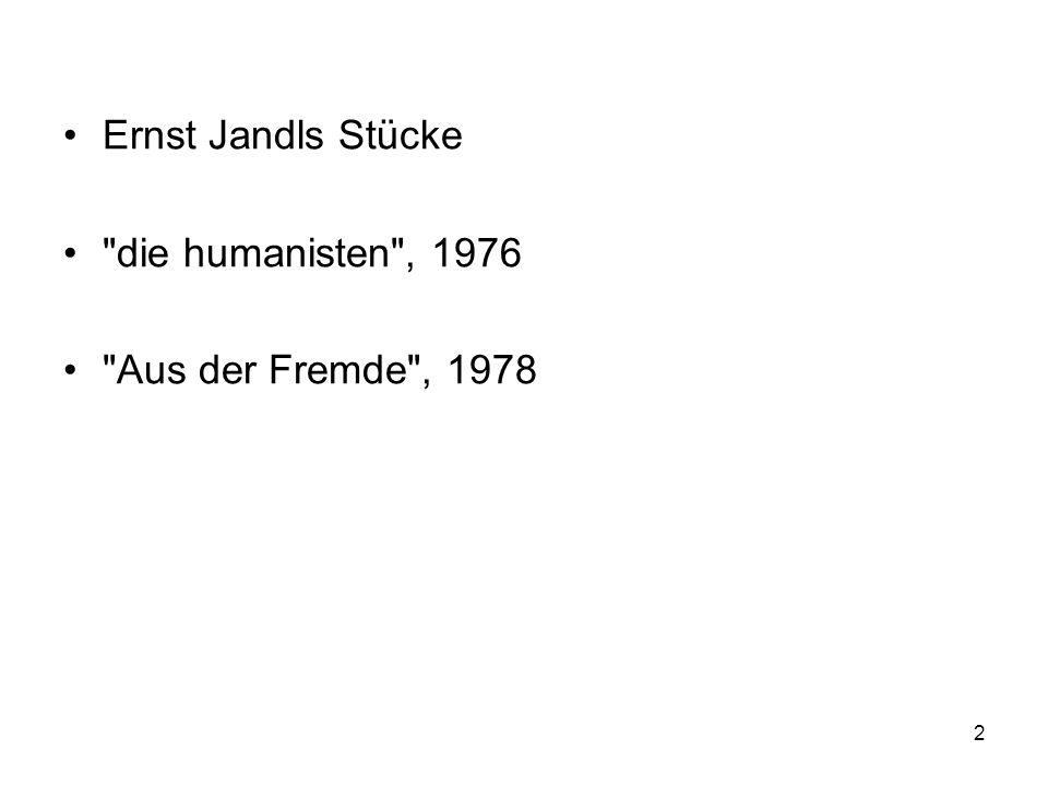 Ernst Jandls Stücke