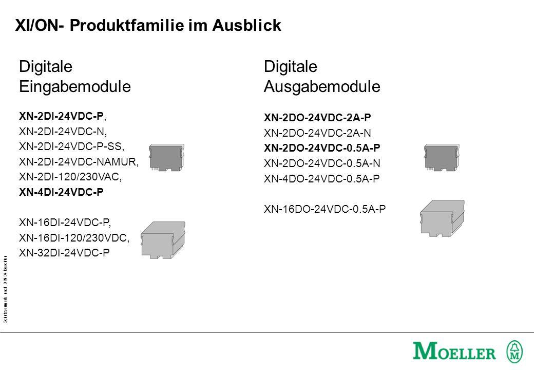 Schutzvermerk nach DIN 34 beachten Digitale Eingabemodule XN-2DI-24VDC-P, XN-2DI-24VDC-N, XN-2DI-24VDC-P-SS, XN-2DI-24VDC-NAMUR, XN-2DI-120/230VAC, XN