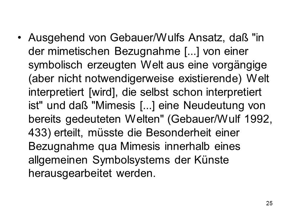 Ausgehend von Gebauer/Wulfs Ansatz, daß