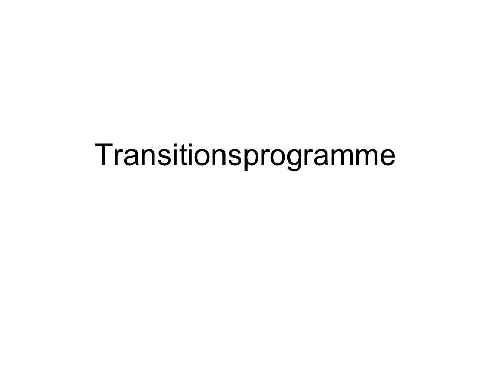 Transitions/ Überleitungsprogramme Widerstände gegen Transitionsprogramme –Von Seiten der Kinderorientierten Serviceprogrammen –Von Seiten der Jugendlichen –Von Seiten der Eltern –Von Seiten Erwachsenen orientierten Serviceprogrammen What do we really know about the Transition to Adult-Centered Health Care.