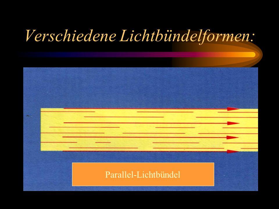 Verschiedene Lichtbündelformen: Parallel-Lichtbündel