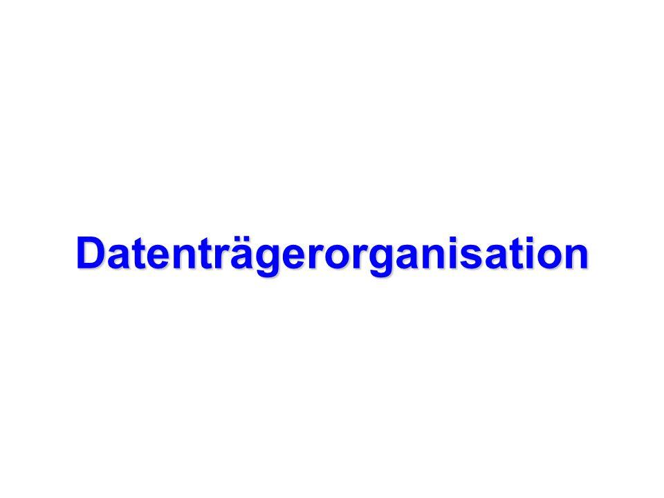 Formatierung Durch das Formatieren wird der Datenträger für die Datenaufnahme vorbereitet.