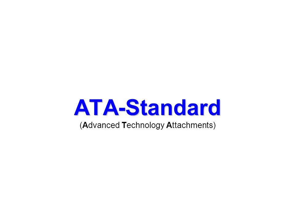 ATA-Standard ATA (ca. 85) legt das Signalverhalten und das Protokoll für das IDE-Bussystem fest.