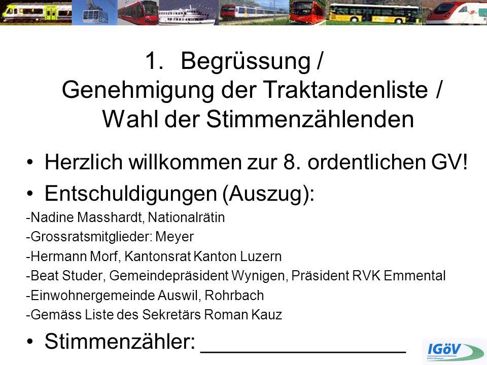 6.Anträge und Resolutionen Anträge Jonas Ryser HV 2013 ANTRAG 2: Linie 414 (Langenthal-St.