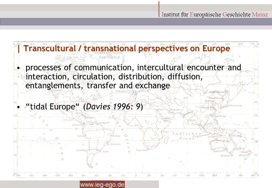 www.ieg-ego.de Institut für Europäische Geschichte Mainz | Transcultural / transnational perspectives on Europe processes of communication, intercultu