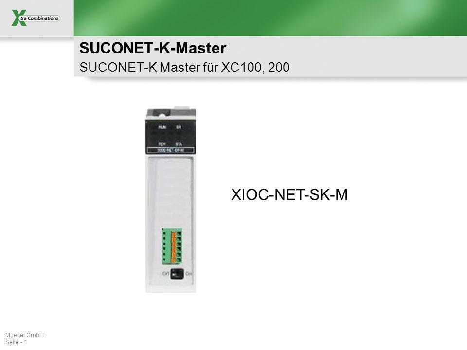 Dateiname Schutzvermerk ISO 16016 beachten Moeller GmbH Seite - 2 XIOC-SER Suconet-K Master Produkt-Feature (1) Verwendung in XC100, XC200 2 Baugruppen in XC100 max.