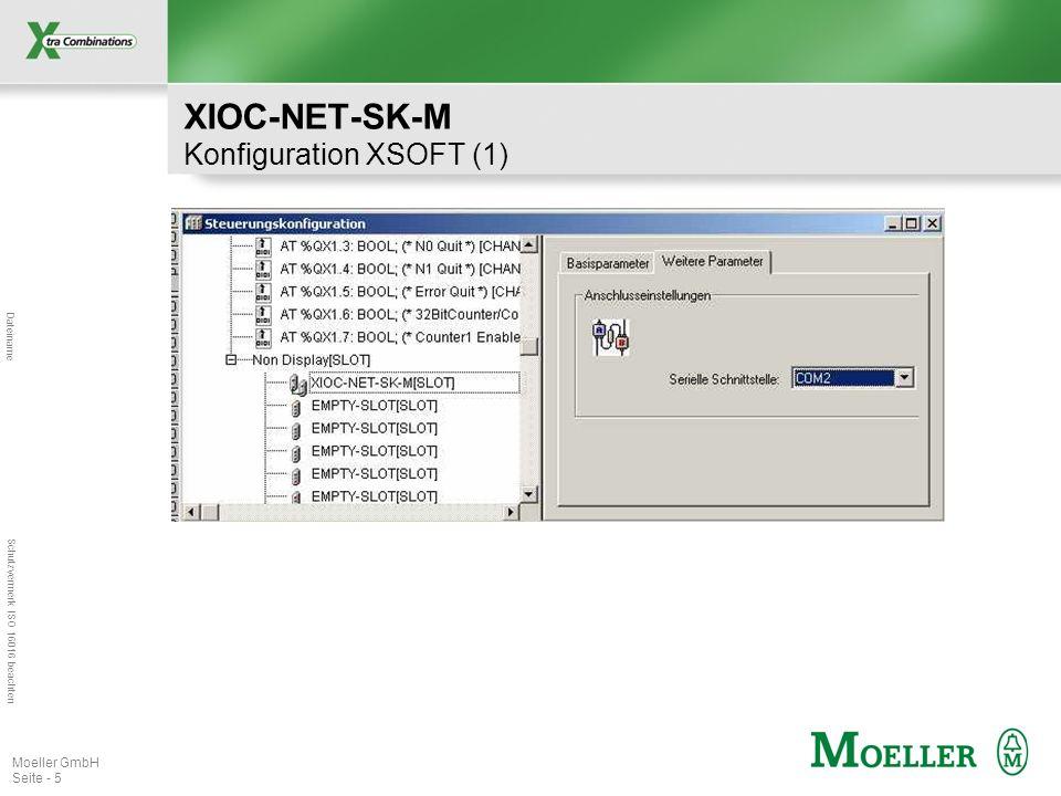 Dateiname Schutzvermerk ISO 16016 beachten Moeller GmbH Seite - 5 XIOC-NET-SK-M Konfiguration XSOFT (1)