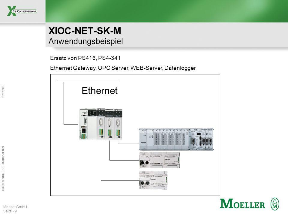 Dateiname Schutzvermerk ISO 16016 beachten Moeller GmbH Seite - 10 XIOC-NET-SK-M Technische Daten Artikelnummer: 289982 Listenpreis: 550