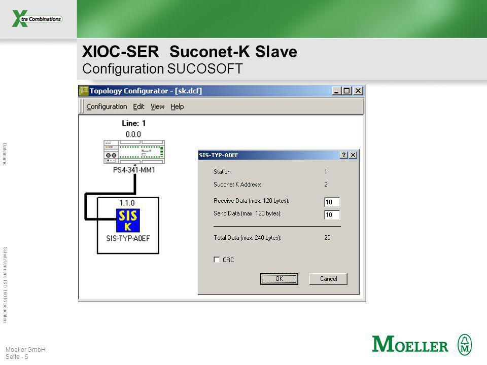Dateiname Schutzvermerk ISO 16016 beachten Moeller GmbH Seite - 5 XIOC-SER Suconet-K Slave Configuration SUCOSOFT