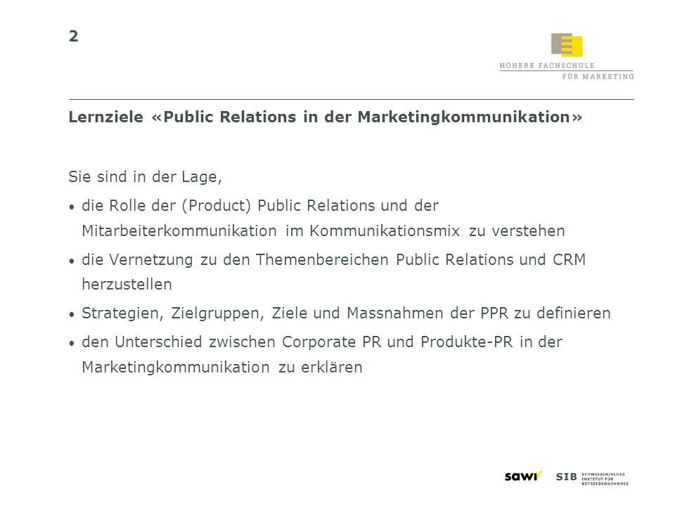 3 Inhalt Grundlagen der (Product) Public Relations4–11 Das PPR-Konzept13–22